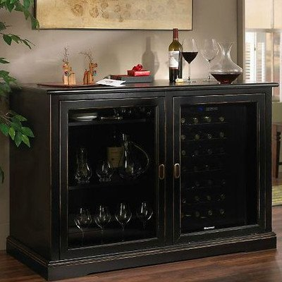 Siena 28 Bottle Dual Zone Freestanding Wine Refrigerator Finish: Nero