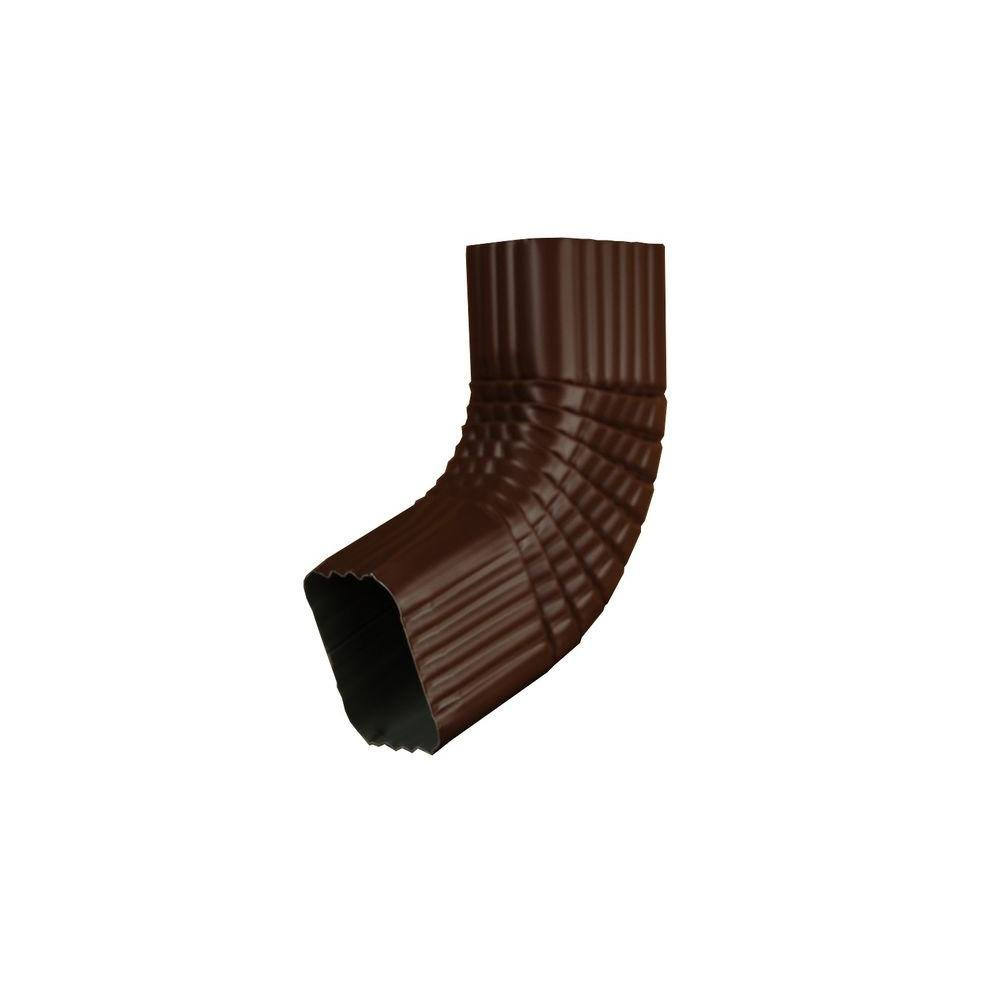 Amerimax Home Products 2 in. x 3 in. Royal Brown Aluminum Downspout B Elbow