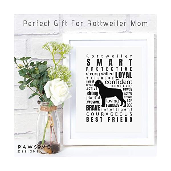 Dog Decor Rottweiler Wall Art - Quote Print (8.5x11 Unframed) | Pet Memorial Gifts | Dog Mom Gift | New Puppy Keepsake | Original Rottweiler Gifts for Dog Lovers 2