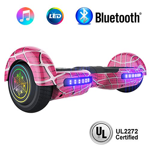 NHT 6.5' inch Aurora Hoverboard Self Balancing Scooter with Colorful LED Wheels and Lights - UL2272...