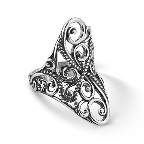Carolyn Pollack Signature Sterling Silver Saddle Ring for sale  Delivered anywhere in USA