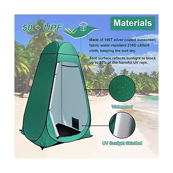 51gVEcIhiNS Camping Toilettenzelt riggoo Duschzelt Pop Up Umkleidezelt Privatsphäre Toilette Umkleidekabine Lagerzelt Mobile Outdoor…