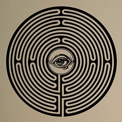 zhuziji Laberinto Laberinto Tatuajes de Pared Mystic Eye Vinilo ...