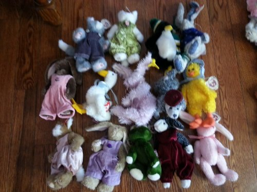 Lot of 10 Different Assorted Ty Attic Treasures Great for Party Favors and Gifts - Each Lot Is Different and Will Include Bears and Other Animals - See pictures for some examples from TY