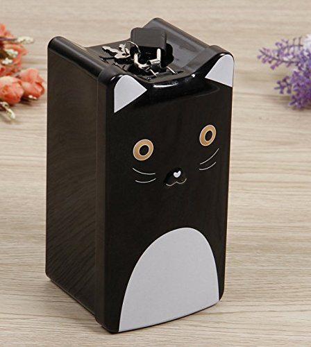 YOIL de Decoración Hucha Cajas de Ahorro Regalo Cartoon Cat Piggy Bank Premium Tinplate Candy Jar