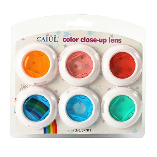CAIUL Compatible Instax Mini Color Close Up Lens Filter Set for Fujifilm Instax Mini 8 8+ 9 7s (6 pcs)