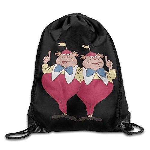 Tweedle Dum In Costumes Alice Wonderland (Tweedle Dum And Dee Alice In Wonderland Nylon Drawstring Sack Bag Home Travel Sport)