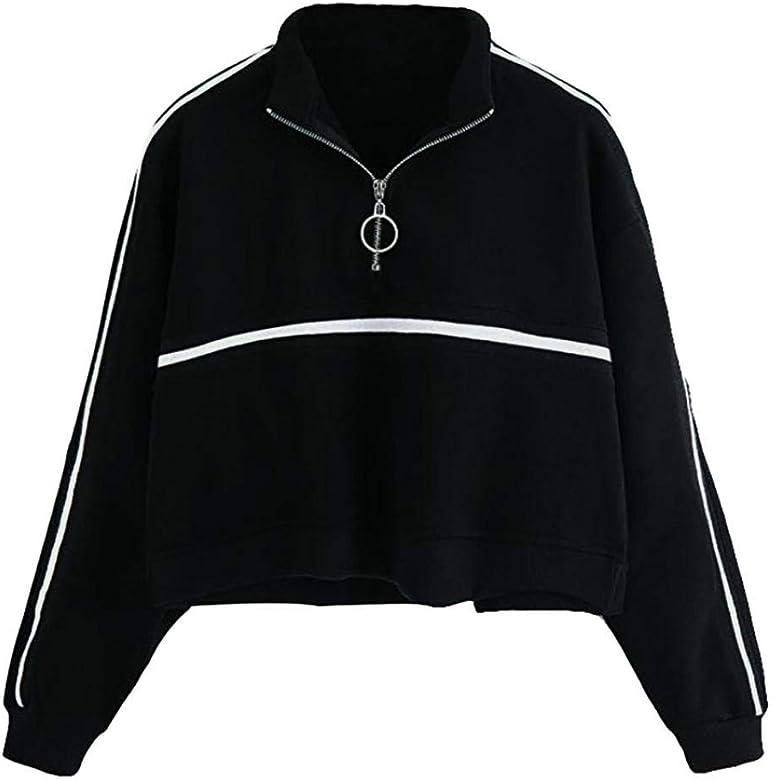 QinMM Sudadera Camiseta a Rayas Polos para Mujer, Blusa de otoño ...