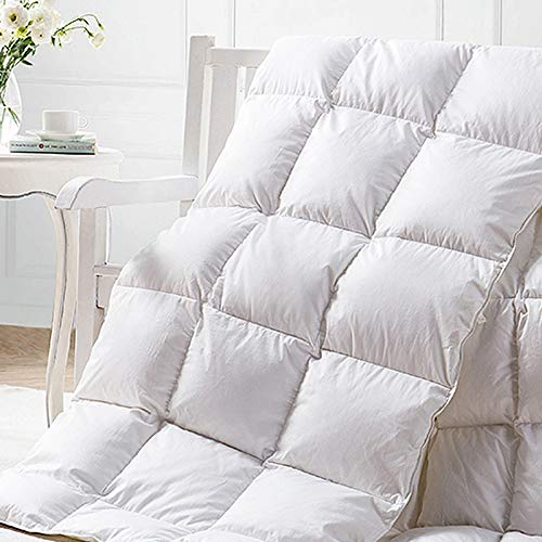HOMFY Premium Cotton Comforter Queen,Quilted Comforter with Corner Tabs, Soft and Breathable (White, Queen) by HOMFY (Image #6)