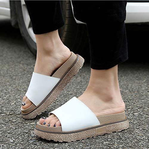 Chaussures ChaussonsAux Femmes Été Résistant L'usure Chaussure Tenthree Femme Épais Antidérapant Style6 Sandales Fond À Grande Taille Blanc Appartement 0nmN8w
