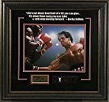 #9: Rocky Movie Famous Quote with Laser Signature Framed