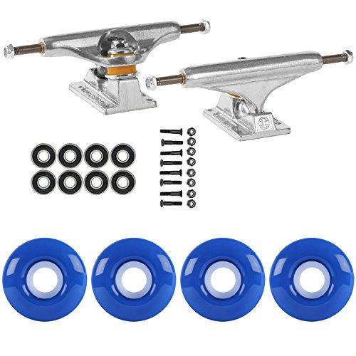 TGM Skateboards Skateboard Package Independent 129 Trucks 52mm True Blue ABEC 7 Bearings
