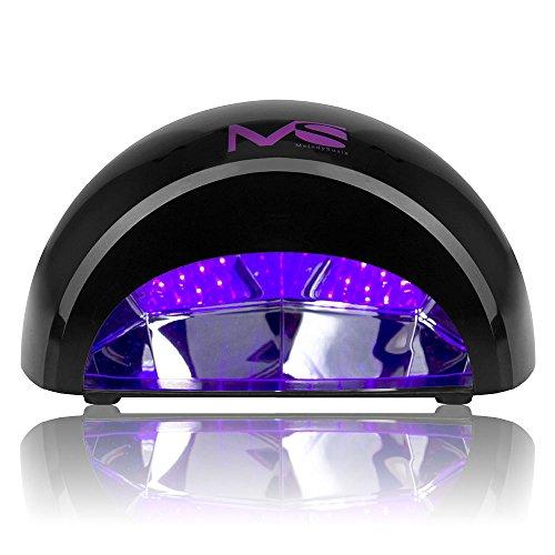 MelodySusie 12W LED Nail Dryer - Nail Lamp Curing LED Gel Nail Gloss, Professional for Nail Art at Home and Salon - Black