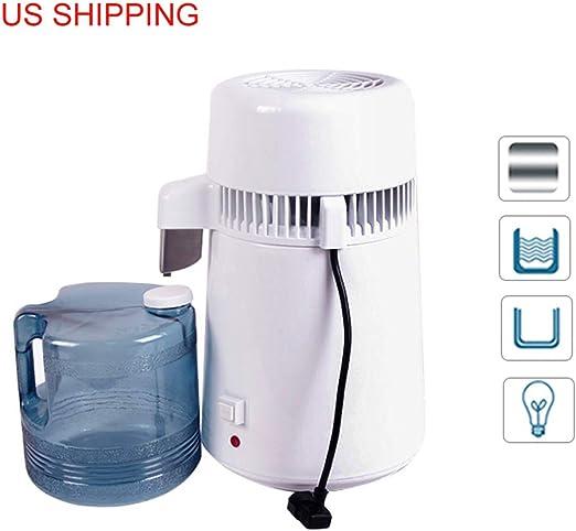 Pure Water Distiller Water Purifier 4L Water Filter Countertop Stainless Steel