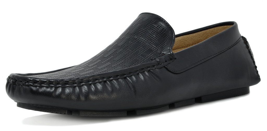 BRUNO MARC NEW YORK Men's PHILIPE-02 Black Penny Loafers Moccasins Shoes Size 7.5 M US by BRUNO MARC NEW YORK (Image #1)