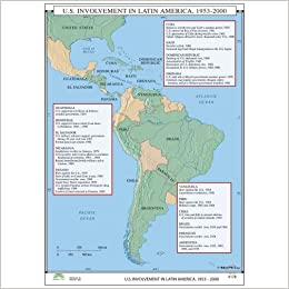 us and latin america map Amazon In Buy Us Invovement Latin America World History Wall