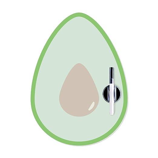 Balvi Pizarra Nevera magnética Avocado con rotulador y Borrador ...