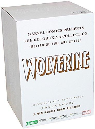 Kotobukiya Marvel Comics Wolverine (Brown Costume Version) Danger Room Sessions Fine Art (Scream Costume Brown)