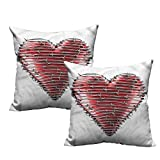 Etienne Aigner Pink Pillow Cases 18'x18',Barbed Wire,Heart Valentines Day,Apply to Sofa and Office