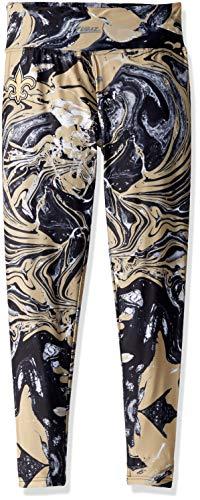 Zubaz NFL New Orleans Saints Women's Swirl Leggings, Multicolor, -