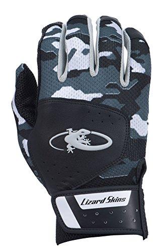 Lizard Skins Komodo Youth Batting Gloves (Black Camo, (Small Lizards)
