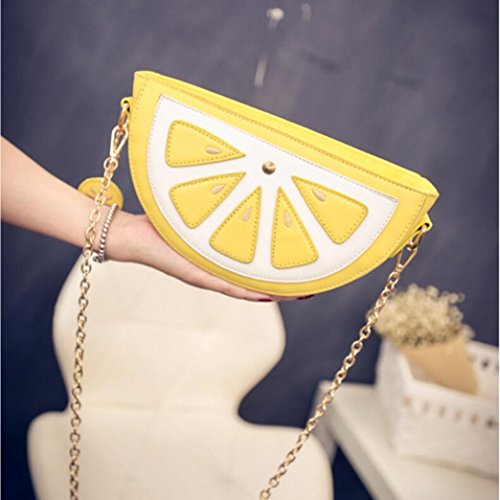 Sinwo Sweet Cute Bag Women Fruit Packet Chain Shoulder Girl Watermelon Bag Gift! (Yellow)