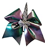 Cheer bows colorful Hologram Unicorn Sparkly Hair Bow