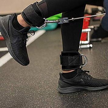 - f/ür Fitness Training am Kabelzug gepolstert 2 Jahre Gew/ährleistung 2St/ück Ankle Straps f/ür Frauen und M/änner RhinoSport Fu/ßschlaufen