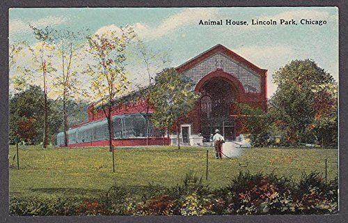 Animal House Lincoln Park Chicago IL postcard 1910s from The Jumping Frog