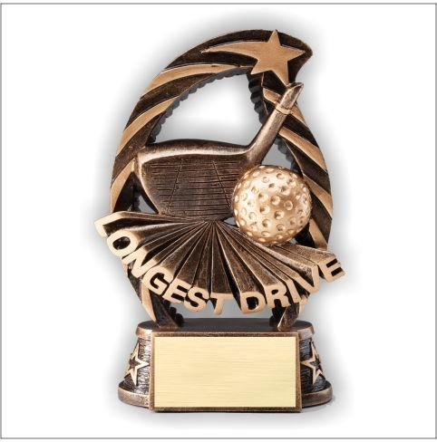 Longest Drive Golf Resin Trophy - How First Class Mail Long