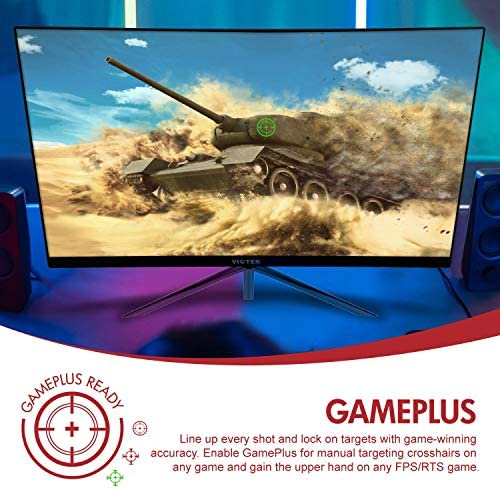 VIOTEK GN24CB 24-INCH CURVED GAMING MONITOR WITH SPEAKERS, 1080P 144HZ BEZEL-LESS SAMSUNG VA PANEL, 2 X HDMI DP FREESYNC – VESA (BLACK)