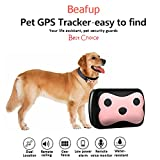 Beafup Pet GPS Collar Tracker, Real Time Locator & Activity Monitor Tracking Device for Dogs and Cats