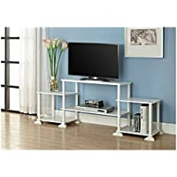 Multiple Shelves Mainstays No Tools 3-Cube Storage Entertainment Center for TVs up to 40 (White)