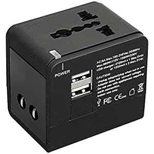 Frontier Global Adaptor with USB Charging Port - BLACK