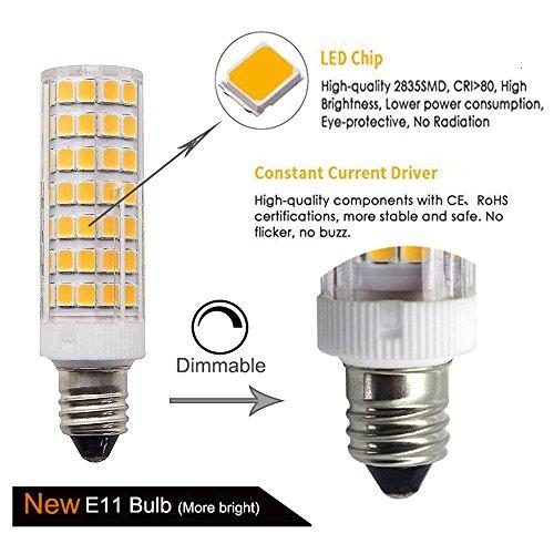 E11 Led Light Bulbs Dimmable 7 5w 75w Ceiling Fan Halogen