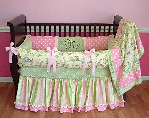 Modpeapod BUMPERLESS Nursery Rhyme Toile Baby Bedding Set