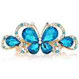 Libaraba Luxurious Rhinestone and Crystal Decoration Butterfly Barrette Hairpin