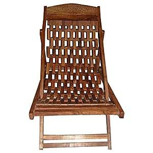 Salalah Wooden Folding Chair - Brown