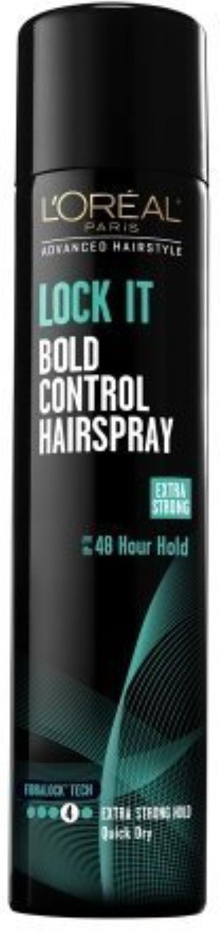 L'Oreal Advanced Hairstyle Lock It Bold Control Hair Spray, Extra Strong Hold 8.25 oz (Pack of 4)