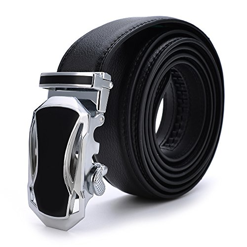 VRLEGEND Men's Belt Genuine Leather Ratchet with Automatic Buckle Extra Long 63