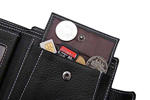 DAYISS® Herren Leder Geldbeutel Geldbörse Portemonnaie Tasche Kartenhülle