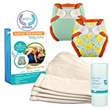Tidy Tots Diaper Hassle Free 4 Diaper Hook & Loop Newborn Essential Set With Duckies and Sea Mist Covers