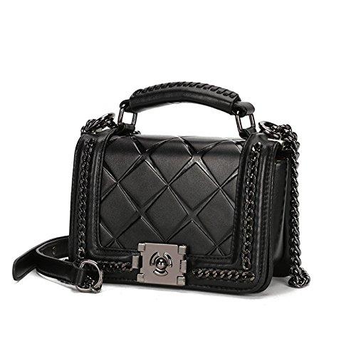 sac Cuir Handle Body Bag Sacs Cross Mini Bandoulière Petits Sangle Matelassé Femmes Chaîne à PU Pour Avec à En Black Top Main 90327 q65Rx485