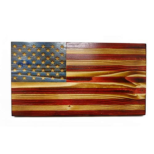 The Rustic Flag Co. Just One Project - Wooden Desktop Flag - Semi Gloss Finish