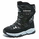 GUBARUN Boys Snow Boots Kids Outdoor Warm Shoes Waterproof (Black1, 5.5): more info