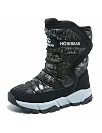 GUBARUN Boys Snow Boots Winter Waterproof Slip Resistant Cold Weather Shoes (Toddler/Little Kid/Big Kid) …