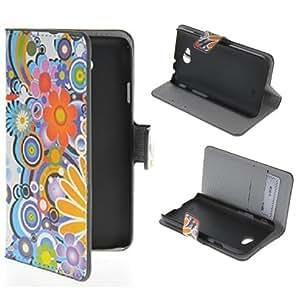 [LG Optimus L70],Leather L70 case,LG L70 Case,LG L70 Flip Leather,LG Optimus L70 Leather Case,Canica Cute Cartoon Print Design Wallet Leather Case Cover For LG Optimus L70 007