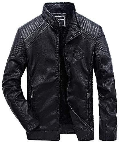 Moto Punk pelle Uomo Eco Motociclista Betrothales Giacca Stile 1 Con Giubbino Cool Risvolto Lungo E Cappuccio In Caldo Giubbotto Rot Giacche W6P4Pq7w