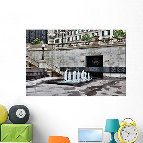 Wallmonkeys Chicago Memorial Wall Mural Peel and Stick Graphic (48 in W x 32 in H) WM362239 ()