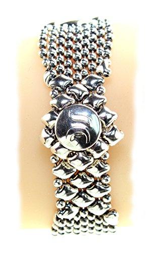 Bracelet Argent Antique b3-as SG Métal liquide par Sergio Gutierrez-SG Étui & Chiffon de nettoyage inclus